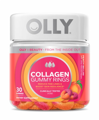 Olly Collagen Peach Gummy Rings Perspective: front