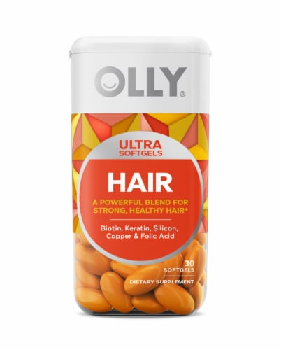 Olly Hair Ultra Softgels Perspective: front