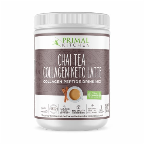 Primal Kitchen Chai Tea Collagen Keto Latte Collagen Peptide Drink Mix Perspective: front