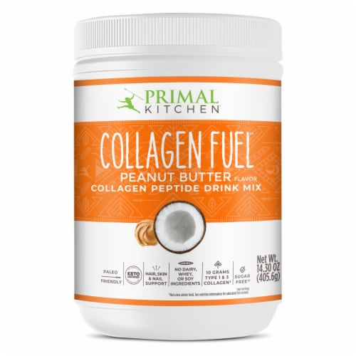 Primal Kitchen Collagen Fuel Peanut Butter Collagen Peptide Drink Mix Perspective: front
