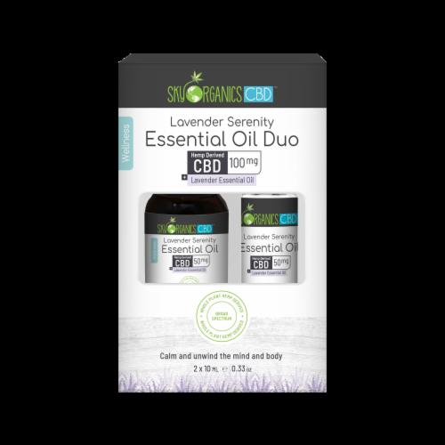 Sky Organics Lavender Serenity CBD Essential Oil Set Perspective: front