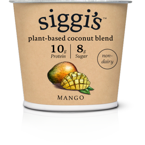 Siggi's Mango Plant Based Coconut Blend Yogurt Perspective: front