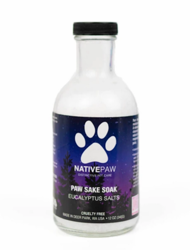 Native Paw Sake Soak Eucalyptus Salts Perspective: front