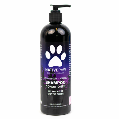 Native Paw Dog Shampoo | Hypoallergenic | Puppy Shampoo too | Concentrated | 100% Natural Perspective: front