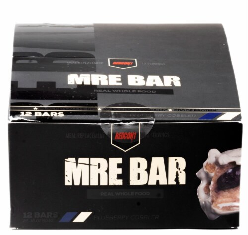 Redcon1  MRE Bar   Blueberry Cobbler Perspective: front