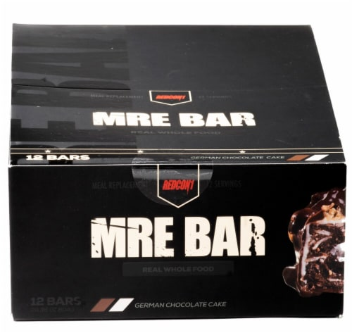 Redcon1  MRE Bar   German Chocolate Cake Perspective: front
