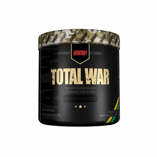 Redcon1  Total War Preworkout   Pineapple Juice Perspective: front