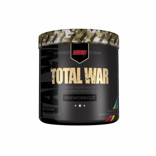 Redcon1  Total War Preworkout   Rainbow Candy Perspective: front
