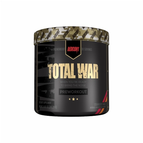 Redcon1 Total War Strawberry Mango Preworkout Dietary Supplement Perspective: front