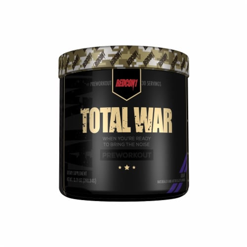 Redcon1  Total War Preworkout   Grape Perspective: front