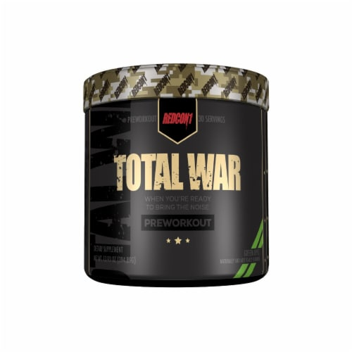 Redcon1  Total War Preworkout   Green Apple Perspective: front