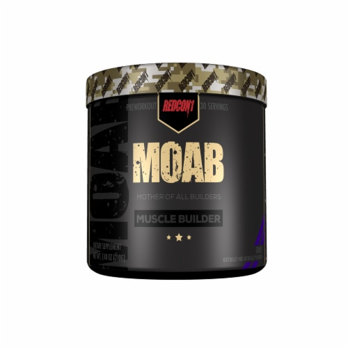 Redcon1 Moab Grape Muscle Builder Dietary Supplement Perspective: front