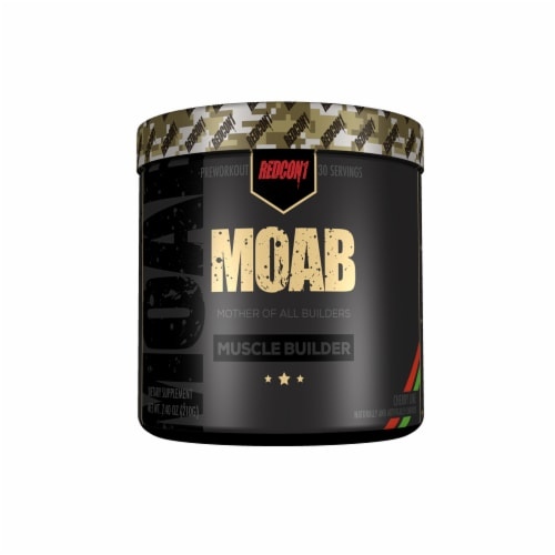 Redcon1 Moab Cherry Lime Muscle Builder Dietary Supplement Perspective: front