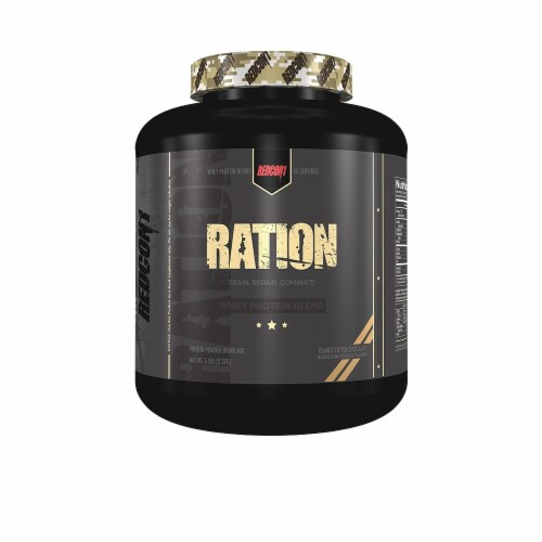 Redcon1  Ration Whey Protein Blend   Peanut Butter Chocolate Perspective: front