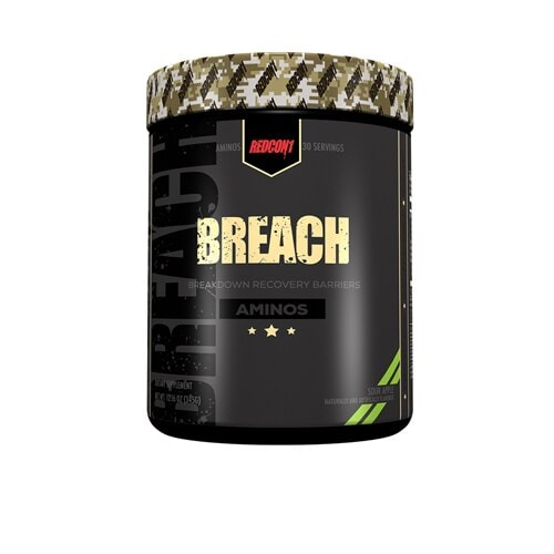 Redcon1  Breach Aminos   Sour Apple Perspective: front