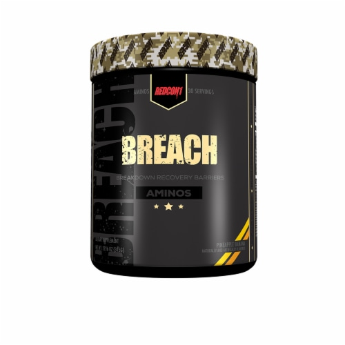 Redcon1 Breach Pineapple Banana Aminos Dietary Supplement Perspective: front