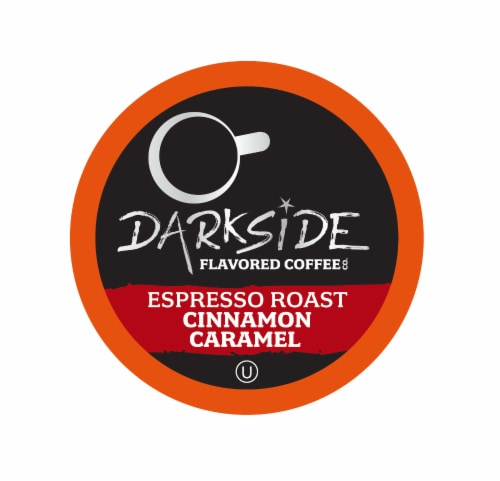 Darkside Flavored Coffee, Cinnamon Caramel for Keurig K Cup Brewers, 40Count Perspective: front