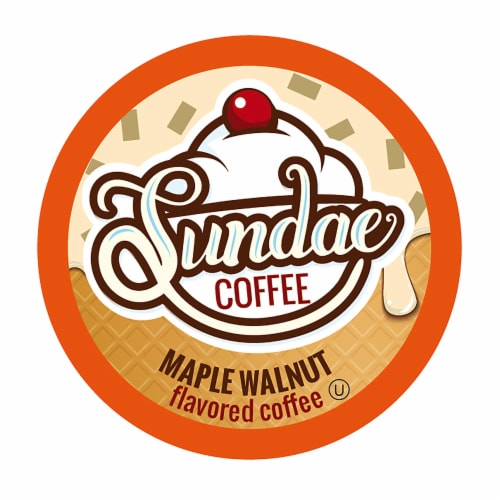 Sundae Ice Cream Flavored Coffee Pods, 2.0 Keurig K-Cup Compatible, Maple Walnut, 48 Count Perspective: front