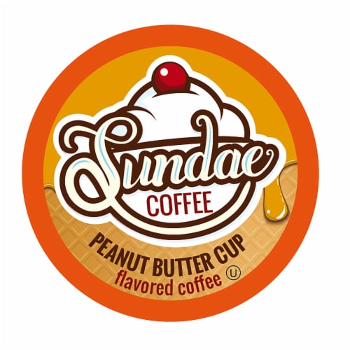 Sundae Ice Cream Flavored Coffee Pods, for 2.0 Keurig, Peanut Butter Cup, 48 Count Perspective: front