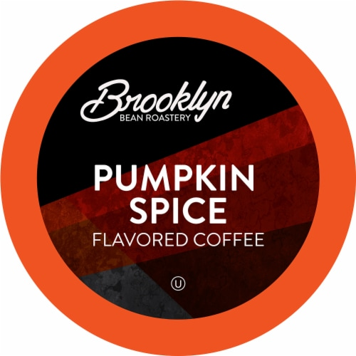 Brooklyn Bean Pumpkin Flavored Coffee Pods, Pumpkin Spice, 40 Count Perspective: front