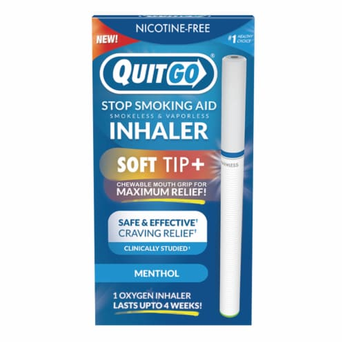 QuitGo Soft Tip Menthol Inhaler Stop Smoking Aid Perspective: front