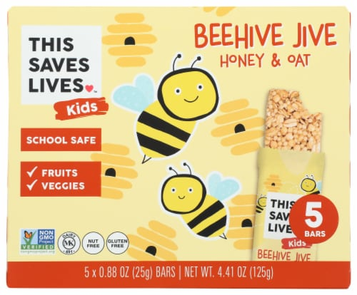 This Saves Lives Kids Beehive Jive Honey & Oat Bars Perspective: front