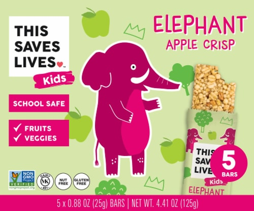 This Saves Lives Elephant Apple Crisp Bars Perspective: front
