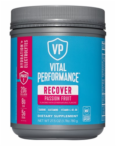 Vital Proteins Passion Fruit Performance Recover Powder Perspective: front