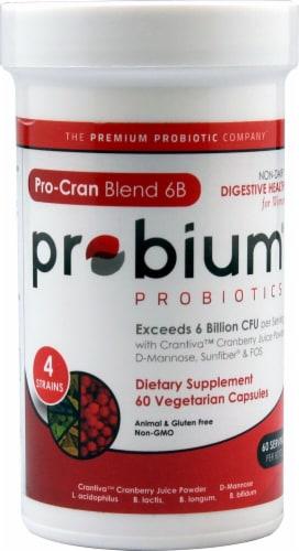 Probium Probiotics Pro-Cran Blend 6B Capsules Perspective: front