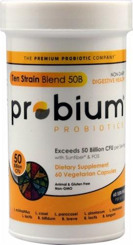 Probium Probiotics Ten Strain Blend 50B Capsules Perspective: front