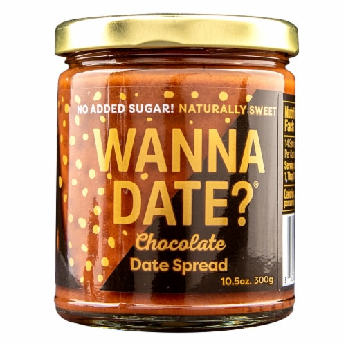 Wanna Date? Chocolate Date Spread Perspective: front