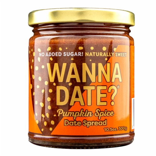 Wanna Date? Pumpkin Spice Date Spread Perspective: front