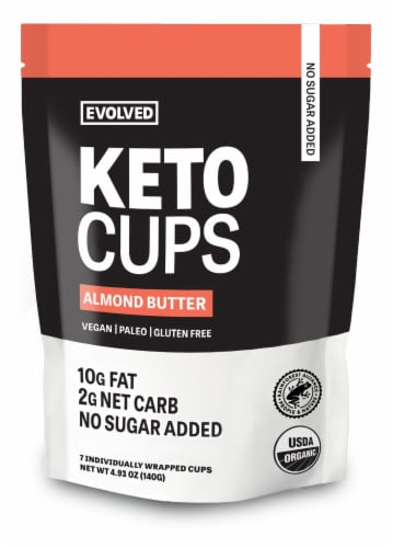 EatingEvolved Almond Butter Keto Cups Perspective: front
