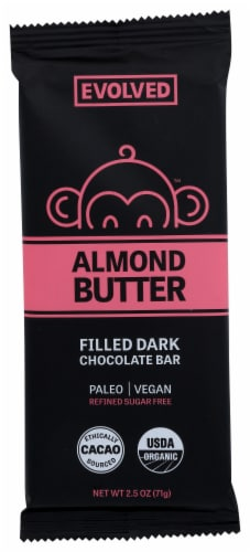 Evolved Almond Butter Filled Chocolate Bar Perspective: front