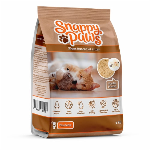 Snappy Paws Plant Based Cat Litter (Vanilla Scent) 8.8 lbs Perspective: front