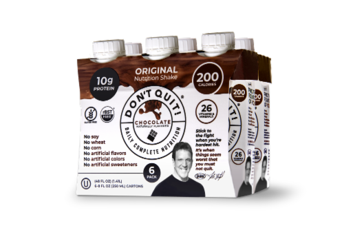 Don't Quit! Original Chocolate Daily Nutrition Shakes Perspective: front