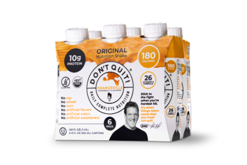 Don't Quit! Original Orangesicle Daily Nutrition Shakes Perspective: front