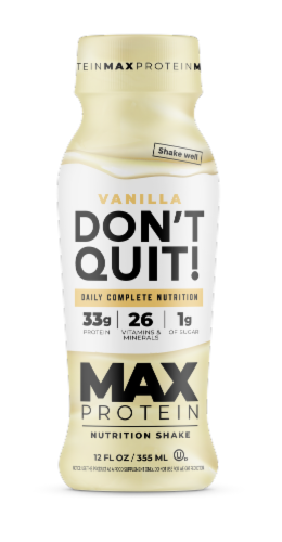 Don't Quit Max Vanilla Daily Nutrition Shake Perspective: front