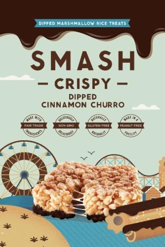 SMASHMALLOW SmashCrispy DIPPED Cinnamon Churro Rice Treat Perspective: front