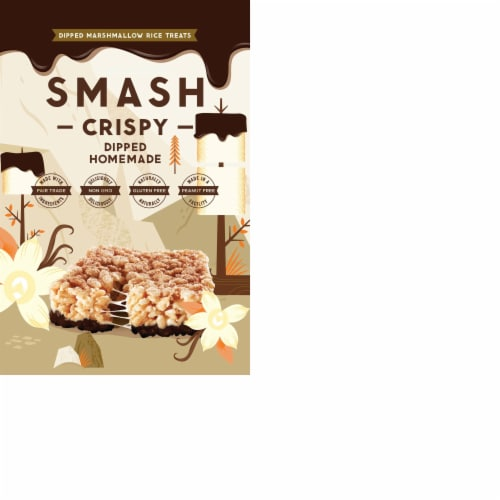 Smash Mallow Homemade Dipped Rice Treat Perspective: front