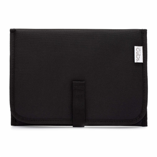 Baby Portable Changing Pad, Diaper Bag, Travel Mat Station, Compact, Solid Black Perspective: front