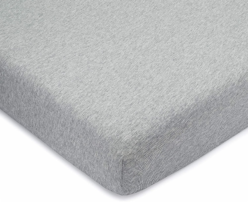 Comfy Cubs Fitted Crib Sheet – 100% Cotton Baby Crib Mattress (Gray, Pack of 1) Perspective: front