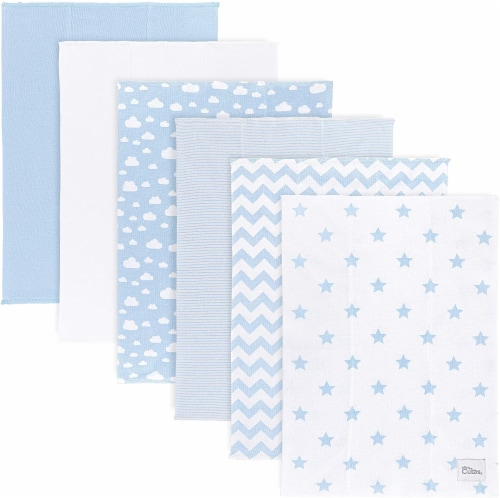 Burp Cloths 6 Pack Large 100% Cotton Washcloths Double Layered Burping Cloths by Comfy Cubs Perspective: front