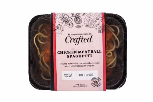 Eat Local Kids Spaghetti with Chicken Meatballs Frozen Meal Perspective: front