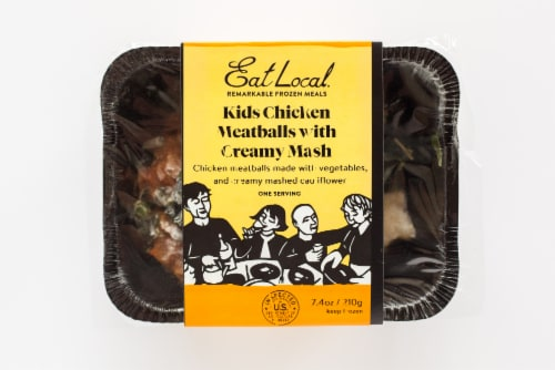 Luvo Kids Chicken Meatballs with Creamy Mash Perspective: front
