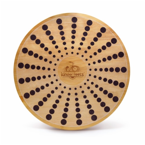 Kinderfeets 3631 Bamboo Balance Board Disk for Toddlers, Kids, Teens, and Adults Perspective: front