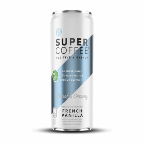 Super Coffee French Vanilla Enhanced Coffee Drink Perspective: front
