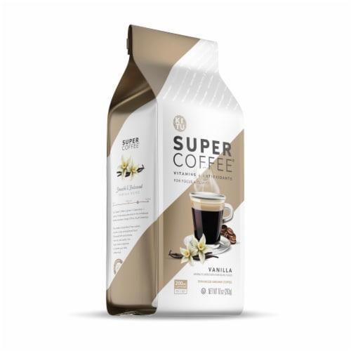 Super Coffee Vanilla Enhanced Ground Coffee Perspective: front