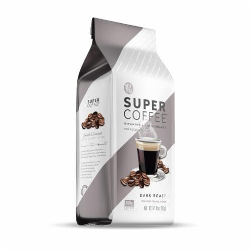Super Coffee Dark Roast Enhanced Ground Coffee Perspective: front