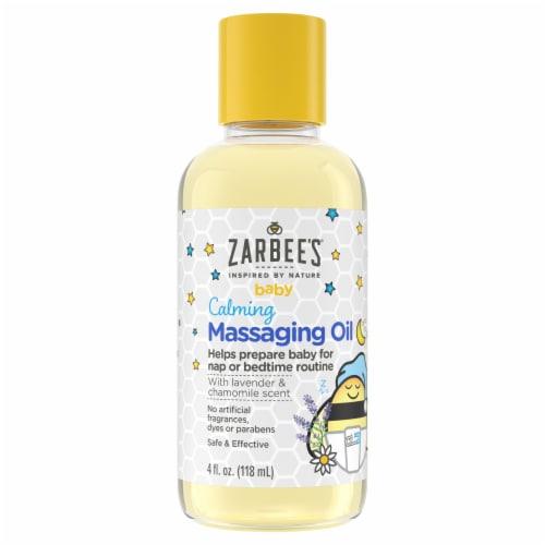 Zarbee's Naturals Baby Calming Massage Oil Perspective: front